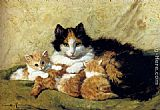 Henriette Ronner-Knip A Proud Mother painting