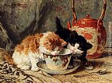 Henriette Ronner-Knip Tea Time painting