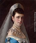 Portrait of Empress Maria Fyodorovna in a Head-Dress Decorated with Pearls