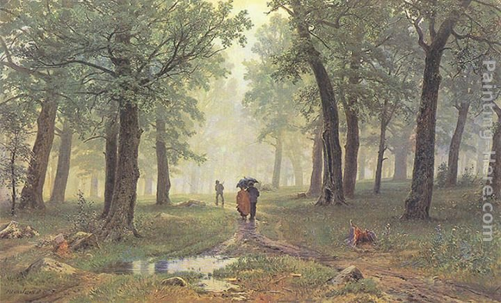 Ivan Shishkin Rain in the Oak Grove