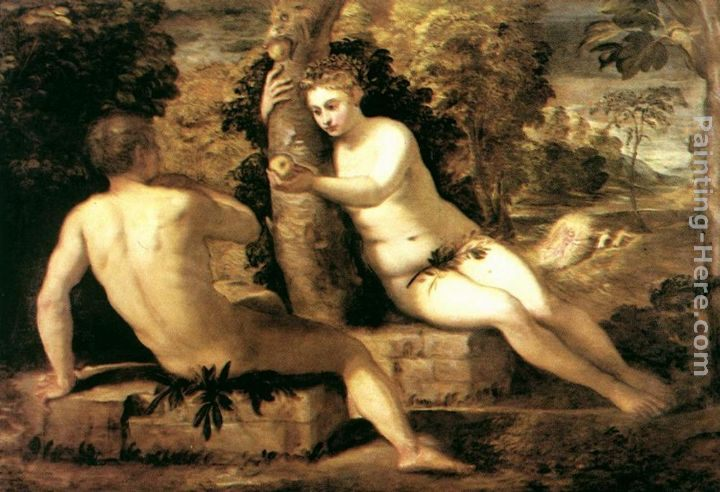 Tintoretto Adam And Eve Jacopo Robusti Tintoretto Adam