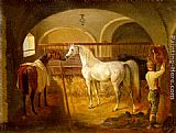 Jacques-Laurent Agasse Stallinneres painting