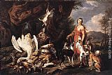 Jan Fyt Diana with Her Hunting Dogs beside Kill painting