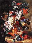 Jan Van Huysum Bouquet of Flowers in an Urn painting