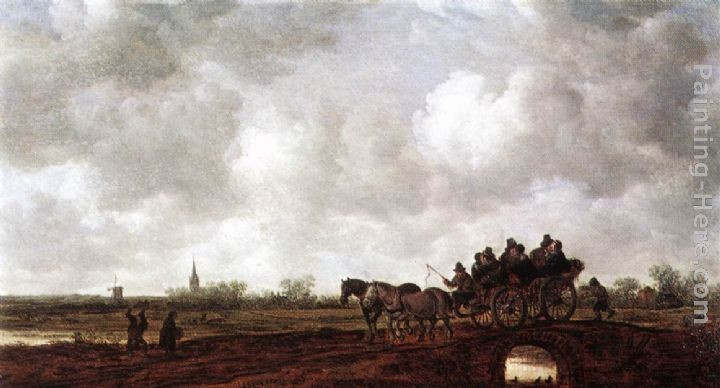 Jan van Goyen Horse Cart on a Bridge