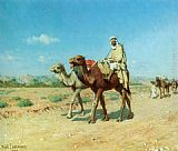 Jean Baptiste Paul Lazerges In the Desert painting