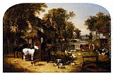 John Frederick Herring, Jnr An English Farmyard Idyll painting