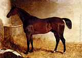 John Frederick Herring, Jnr Flexible, A Chestnut Racehorse In A Loose Box painting