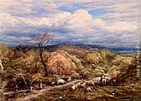 John Linnell An Autumn Afternoon With Shepherd And Flock painting