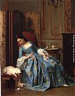 Joseph Caraud Idle Hours painting