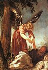 Juan Antonio Frias y Escalante An Angel Awakens the Prophet Elijah painting
