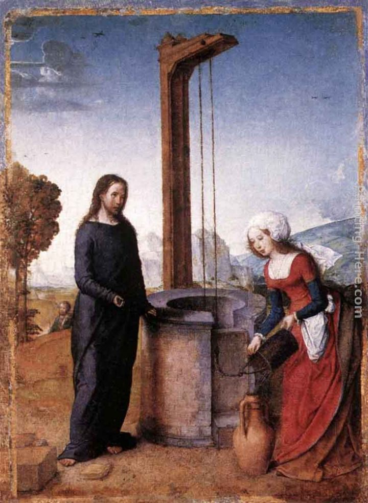 Juan De Flandes Christ and the Woman of Samaria