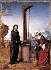 Juan De Flandes Christ and the Woman of Samaria painting