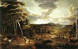 Lucas Van Uden Landscape with the Flight into Egypt painting