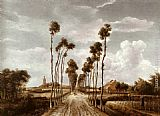 Meindert Hobbema The Alley at Middelharnis painting