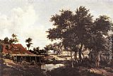 Meindert Hobbema The Water Mill painting