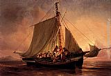 Niels Simonsen Arab Pirate Attack painting