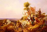 Niels Simonsen Arabs In A Hilltop Fort painting