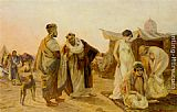 Otto Pilny The Slave Market painting