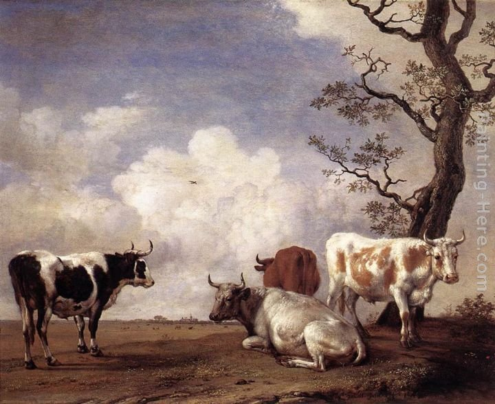 Paulus Potter Four Bulls
