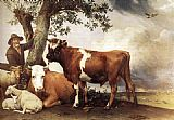 Paulus Potter Young Bull painting