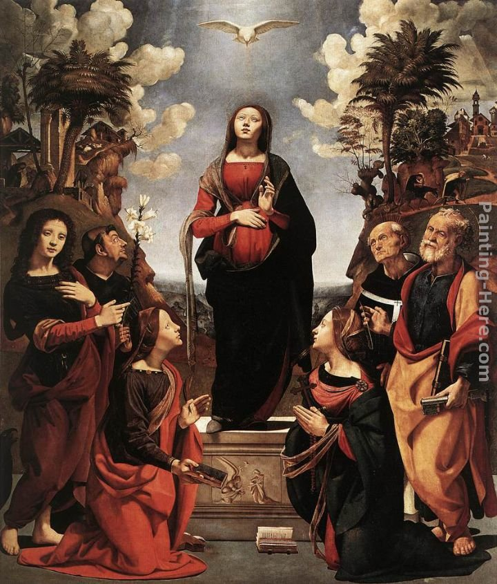 Piero di Cosimo Immaculate Conception with Saints
