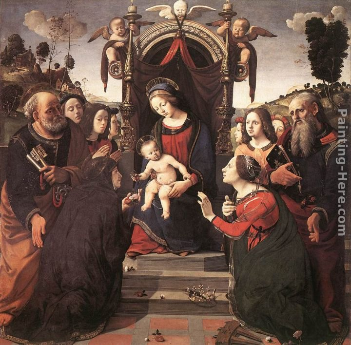 Piero di Cosimo Mystical Marriage of St Catherine of Alexandria