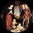 Piero di Cosimo The Adoration of the Christ Child painting