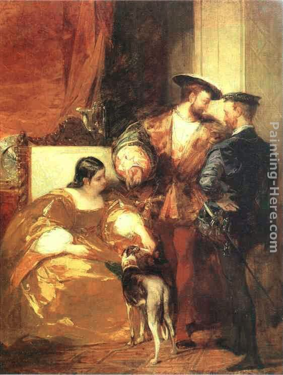 Richard Parkes Bonington Francis I and the Duchess of Etampes