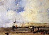 Richard Parkes Bonington On the Coast of Picardy painting