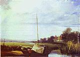 Richard Parkes Bonington River Scene in France painting