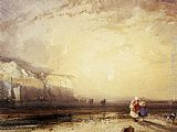 Richard Parkes Bonington Sunset in the Pays de Caux painting