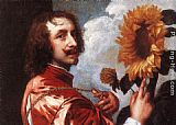 Sir Antony van Dyck Self-portrait with a Sunflower painting