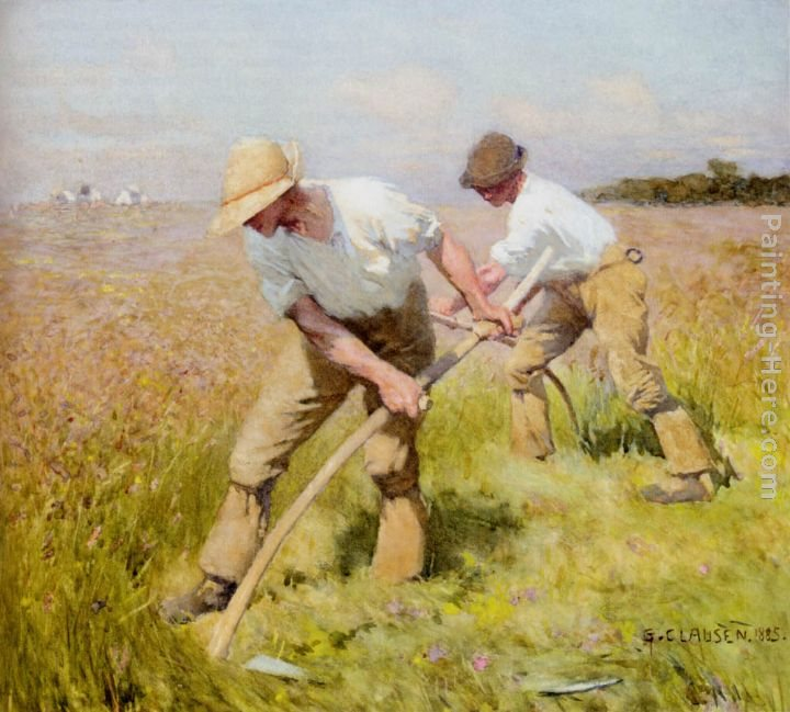 Sir George Clausen The Mowers
