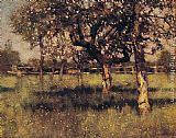 Sir George Clausen An Orchard in May painting