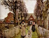 Sir George Clausen Gaywood Almshouses, Kings-Lynn, 1881 painting