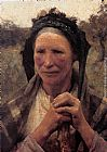 Sir George Clausen Head of a Peasant Woman painting