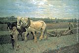 Sir George Clausen Ploughing painting