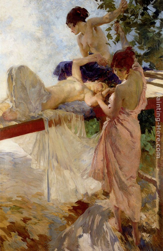 Sir William Russell Flint The Painted Bridge
