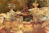 Sir William Russell Flint A Fountain At Frascati painting