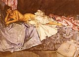 Sir William Russell Flint Abigail, A New Model painting