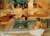 Sir William Russell Flint Gleaming Limbs And Cool Waters painting