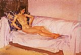 Sir William Russell Flint The Brocade Cushion painting