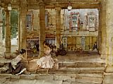 Sir William Russell Flint The Market Hall Cordes painting