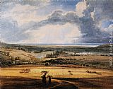 Thomas Girtin Alnwick Castle from Brizlee, Northumberland painting