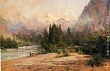 Thomas Hill Bow River Gap at Banff, on Canadian Pacific Railroad painting
