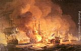 Thomas Luny Battle of the Nile, August 1st 1798 at 10 pm painting