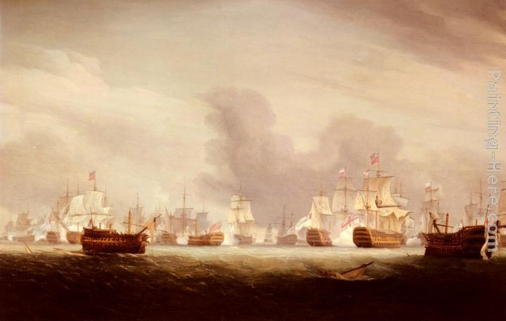 Thomas Whitcombe The Battle Of The Glorious 1st Of June 1794