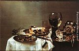 Willem Claesz Heda Breakfast Table with Blackberry Pie painting