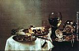 Willem Claesz Heda Breakfast with Blackberry Pie painting
